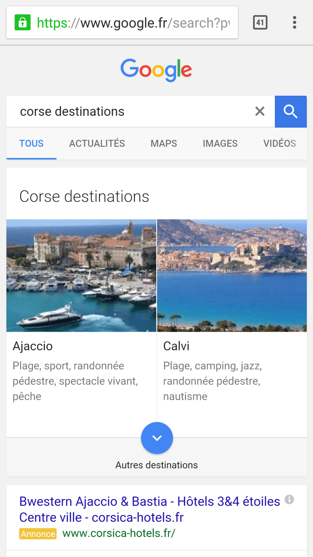 Corse destinations vacances