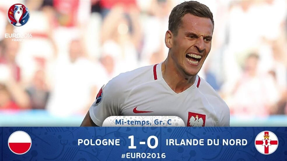 Match euro 2016 Pologne 1 – 0 Irlande groupe C