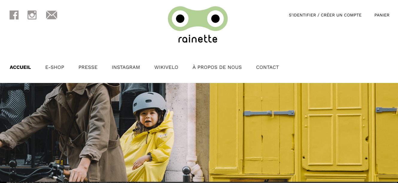 """e-commerce wizishop """"c'est au programme rainette"""""""