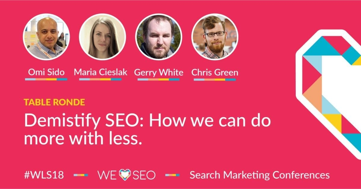 How can we do more with less ? We love SEO