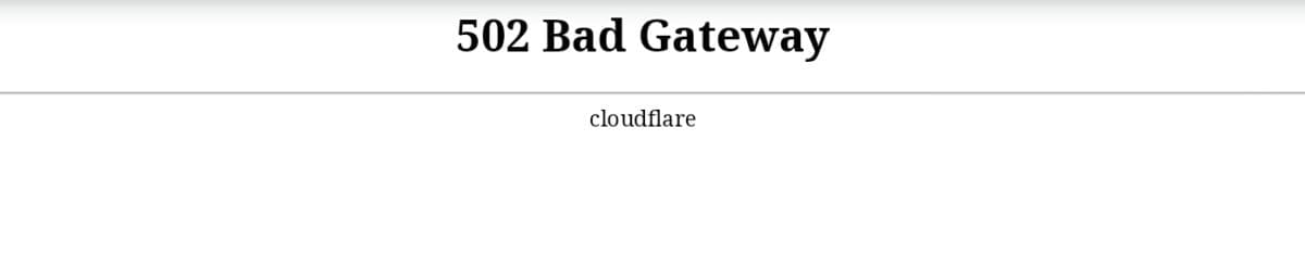 Que faire si cloudflare affiche une erreur 502 bad gateway ? #cloudflare #502badgateway #sysadmin
